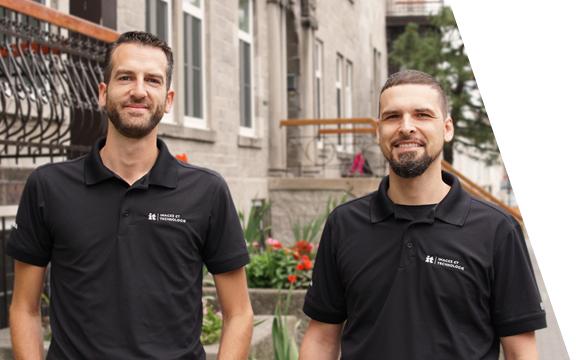 Antoine Cavaillé et Éric Sergerie